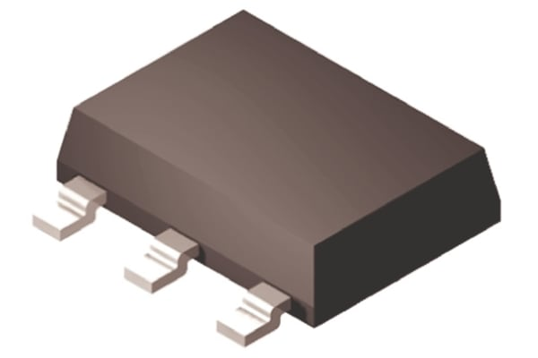 Product image for ON Semi BCP53-16T3G PNP Transistor, 1.5 A, 80 V, 3 + Tab-Pin SOT-223