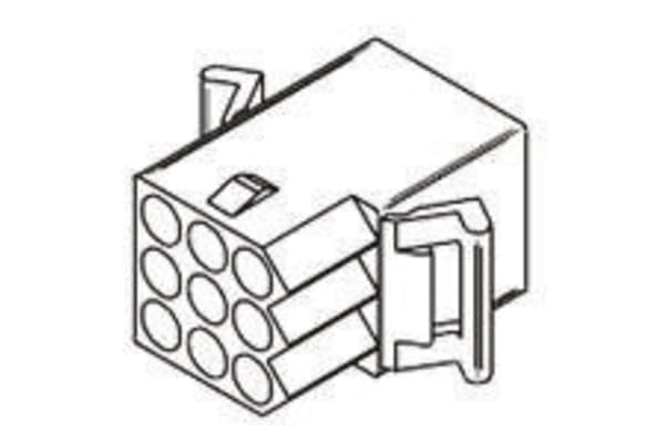 Product image for 2.36mm,housing,receptacle,FH,3row,9way