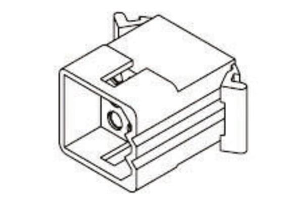 Product image for 2.36mm,housing,plug,free hang,3row,9way