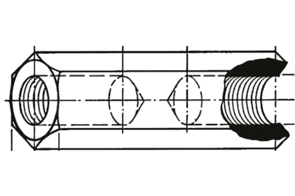 Product image for SPACER 10MM M2.5