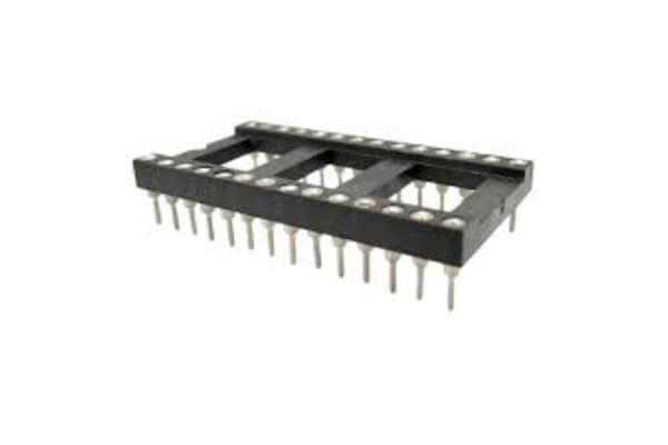 Product image for RS PRO 2.54mm Pitch Vertical 16 Way, Through Hole Turned Pin IC Dip Socket, 3A