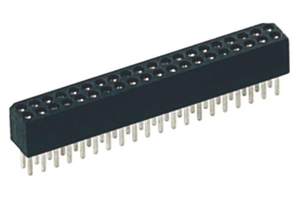 Product image for 10W SOCKET CONN 1.27MM D/R SOLDER