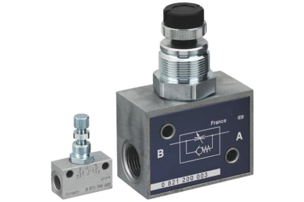 Product image for EMERSON – AVENTICS CC01 Check Choke Valve G 1/4 Female Inlet, G 1/4 Female Outlet, 0.5 → 10bar