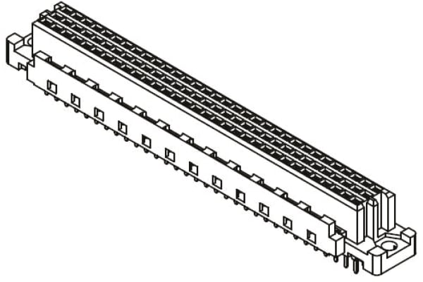 Product image for CONNECTOR DIN-SIGNAL SOLDER 64-WAY F