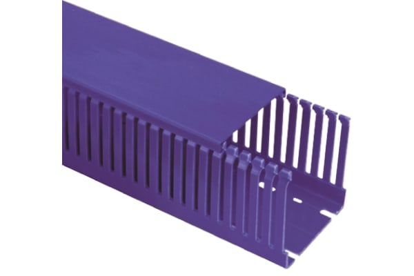 Product image for BLUE NORYL NARROW SLOT TRUNKING 100X50MM