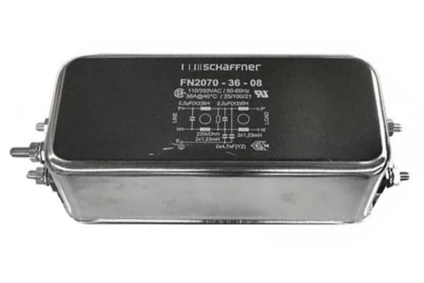 Product image for 2-STAGE PERFORMANCE EMI FILTER 1P 36A