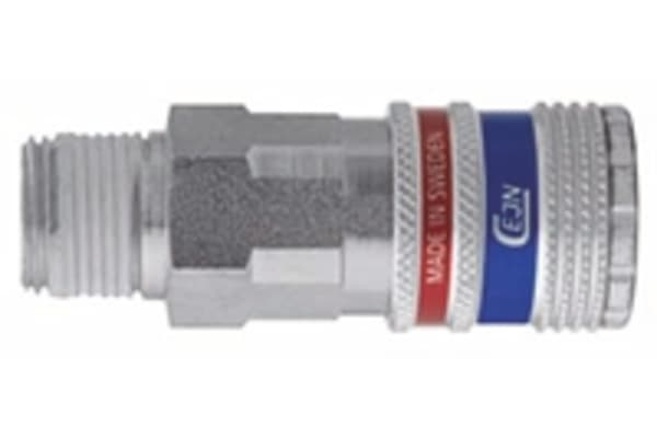 Product image for 1/2BSPT MALE THREAD ESAFE AIR COUPLING