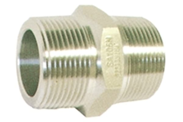 Product image for 1 1/2in F/Steel 316 Hex Nipple M/M Joint