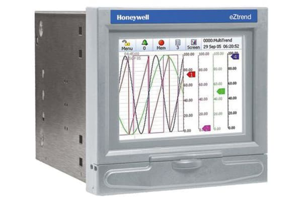 Product image for Honeywell 43-TV-03-18, 12 Channel, Graphic Recorder Measures Current, Resistance, Temperature, Voltage