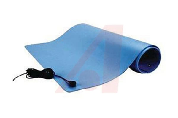 Product image for DISSIPATIVE VINYL 3-LAYER MAT 2X3FT BLUE