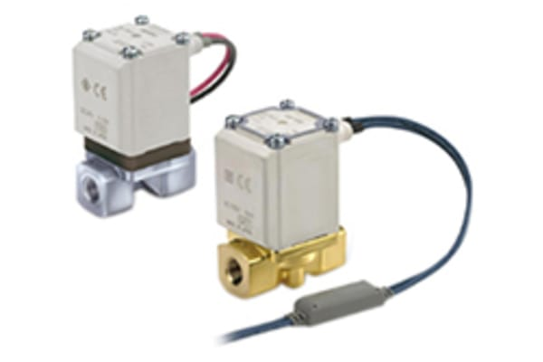 Product image for 2 Way, Solenoid Valve, 1/8, N/C, 12VDC