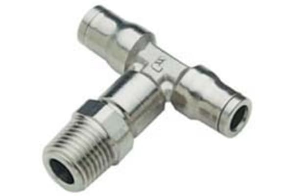 Product image for 6mm, R1/4 BSPP, Male Stud Branch Tee