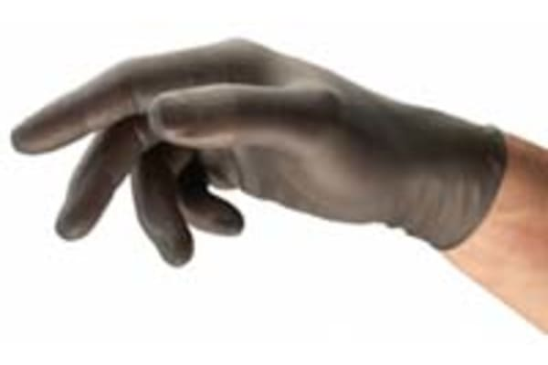 Product image for BLACK POWDER FREE NITRILE GLOVE 9.5-10