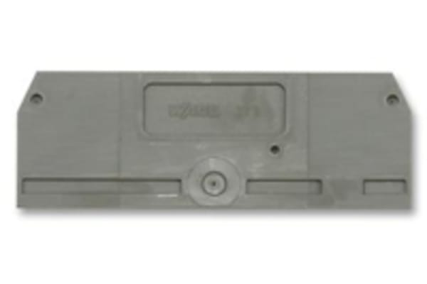 Product image for 4 CONDUCTOR DINRAIL TERM BLK END PLATE