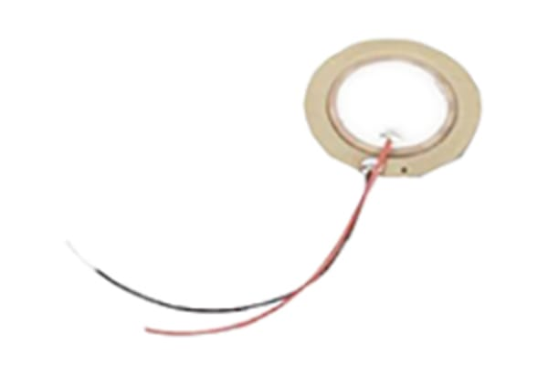 Product image for Piezoelectric Diaphragm 27mm leaded 20nF