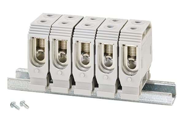 Product image for HENSEL, 5 Way, 16 → /> 35 mm², Copper Non-Fused Terminal Block, 690 V