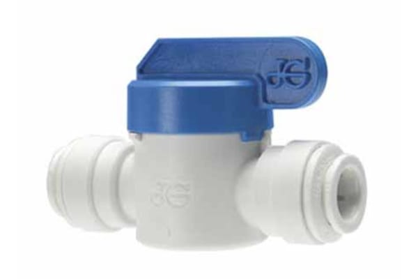 Product image for John Guest Plastic High Pressure Ball Valve 2 Way