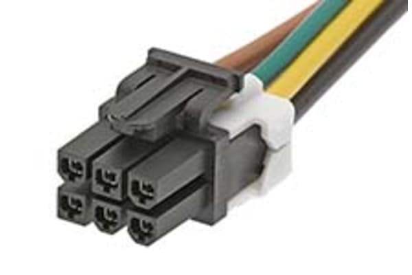 Product image for MINI-FIT JR. CABLE ASSEMBLY, 6P, 1M