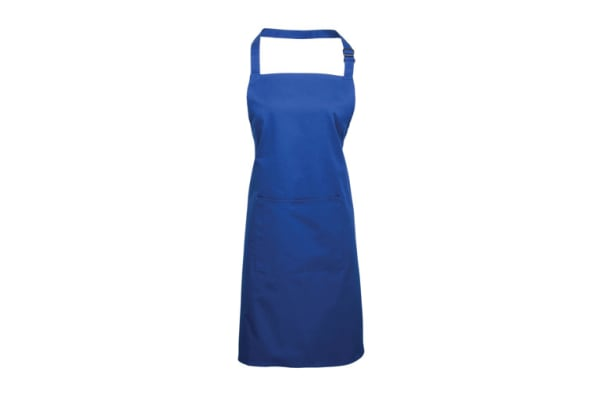 Product image for Bib Apron With Pocket Royal