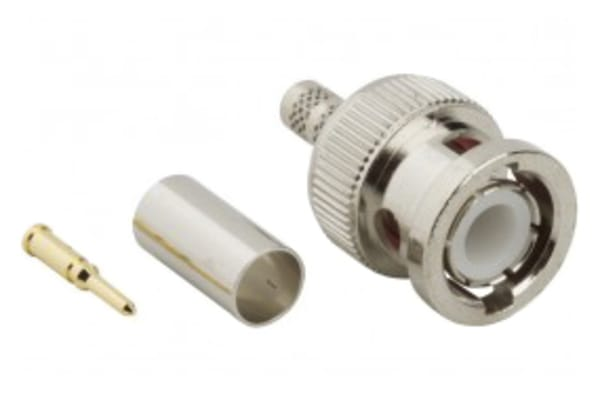 Product image for Amphenol RF 50Ω Straight Cable Mount BNC Connector, Plug, RG142, RG223, RG400, RG55