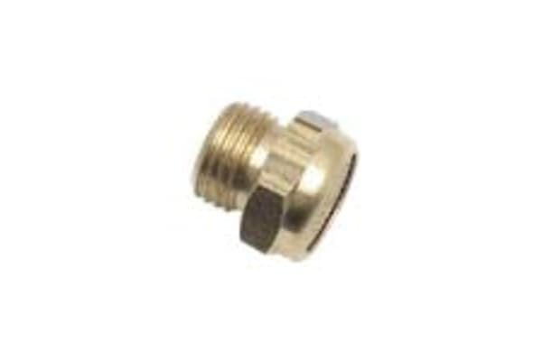 "Product image for Brass Compact Silencer 1/8"" BSPP"