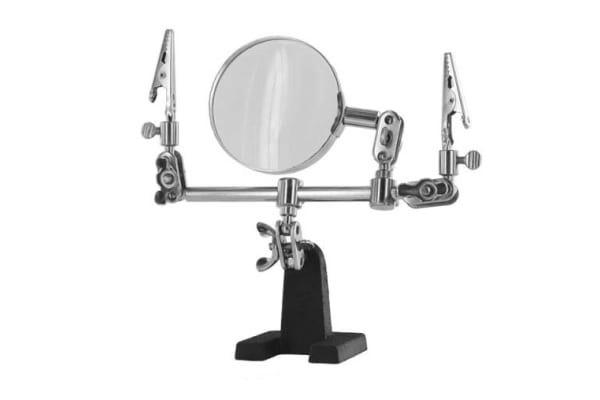 Product image for Helping hand with glass magnifier