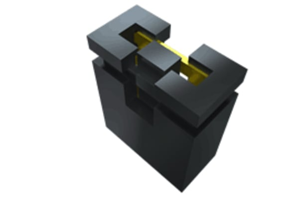 Product image for 2.54MM SNT OPEN TOP SHUNT WITH GRIP, 2P