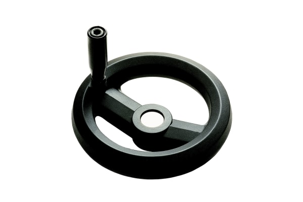 Product image for Two spoke handwheel+revolving handle