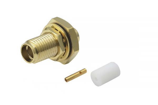 Product image for SMA 27G Straight Bulkhead Jack Solder