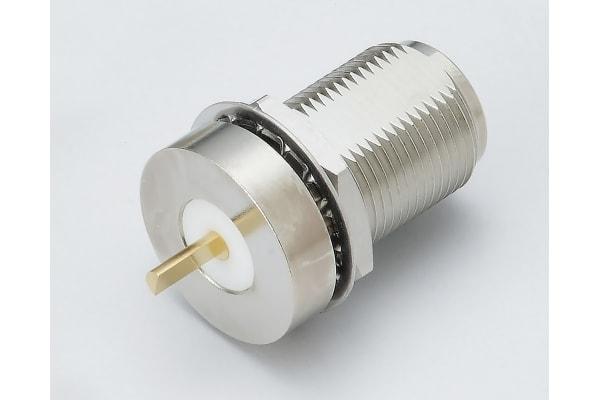 Product image for LOW PIM N 180° Bulkhead Jack Receptacle