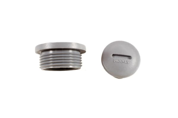Product image for HPM12 SLATE METRIC M12 HOLE PLUG