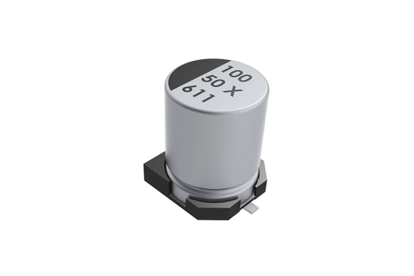 Product image for KEMET 100μF Electrolytic Capacitor 25V dc, Surface Mount - EXV107M025A9HAA
