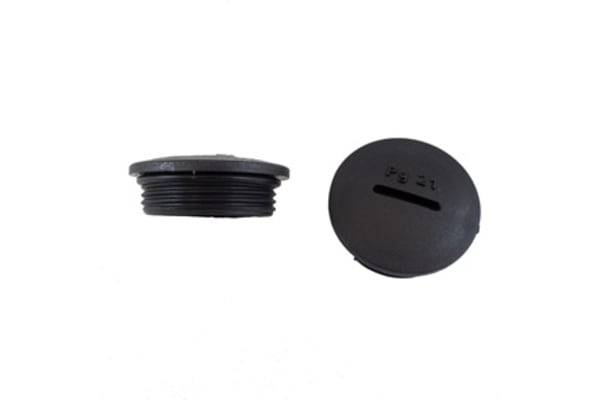 Product image for HOLE PLUG METRIC THREAD M25 BLACK