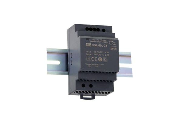 Product image for DIN Rail Power Supply 24V 60W
