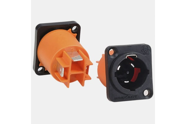 Product image for MALE PANEL MOUNT POWER CONNECTOR