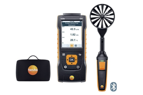 Product image for TESTO 440 100 MM VANE KIT WITH BLUETOOTH