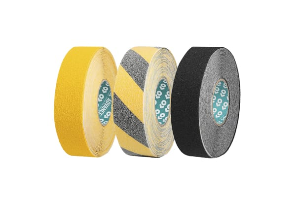 Product image for Advance Tapes Yellow PVC 18m Hazard Tape, 50mm x