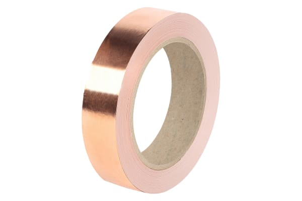 Product image for COPPER FOIL SHIELDING TAPE 19MMX 33M