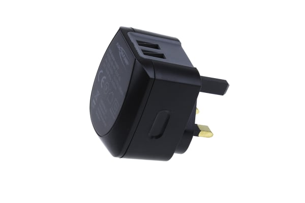 Product image for AC/DC USB CHARGER 2.4A DUO TRAVELLER