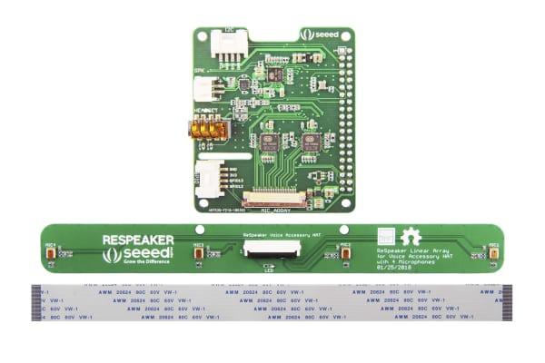 Product image for Seeed Studio 107990056, ReSpeaker 4-Mic Linear Array Kit for Raspberry Pi for Raspberry Pi