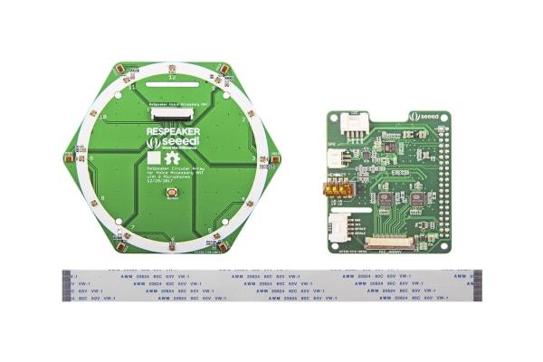 Product image for Seeed Studio 107990055, ReSpeaker 6-Mic Circular Array Kit for Raspberry Pi for Raspberry Pi