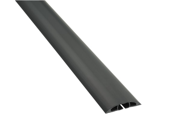 Product image for Light Duty Black Floor Cable Cover - 9m,