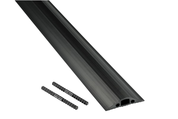 Product image for Medium Duty Black Floor Cable Cover - 9m