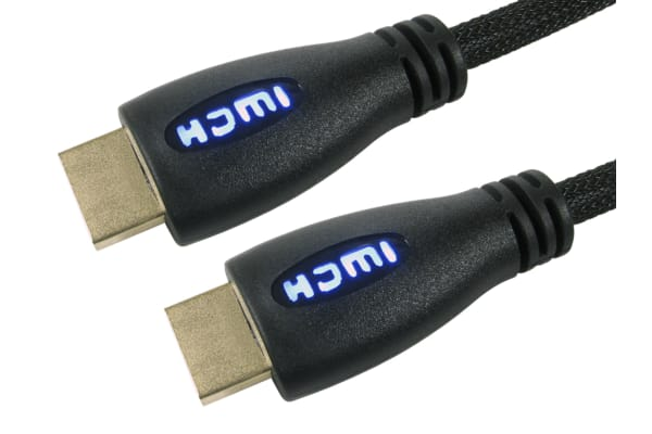 Product image for 1mtr HDMI M-M HS+E Braided Cable - Blue