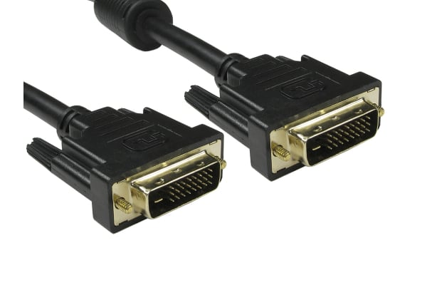 Product image for 1MTR DVI-D DUAL LINK 24+1 M-M CABLE BLAC