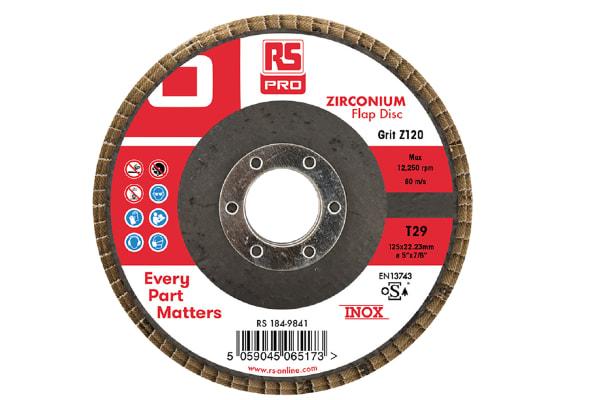 Product image for 125mm x 22mm Zirconium Flap Discs P120 (