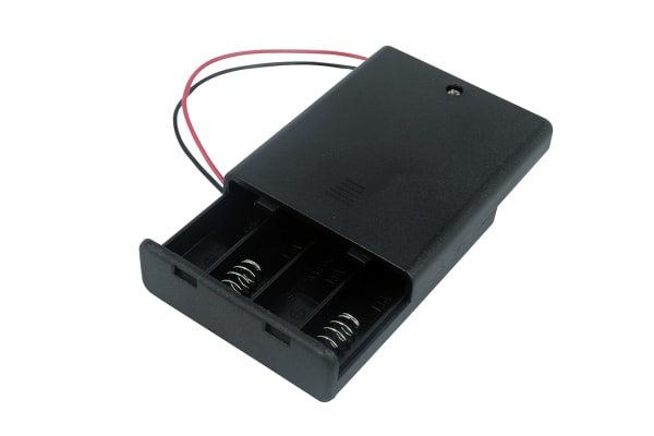 Product image for Safety Battery Holder , AAA x 4with lead