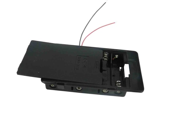 Product image for Safety Battery Holder , AA x 6 with lead