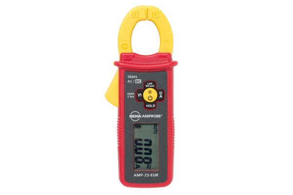 Product image for Beha-Amprobe AMP-25-EUR AC/DC Clamp Meter, 300A dc, Max Current 300A ac CAT III 600 V