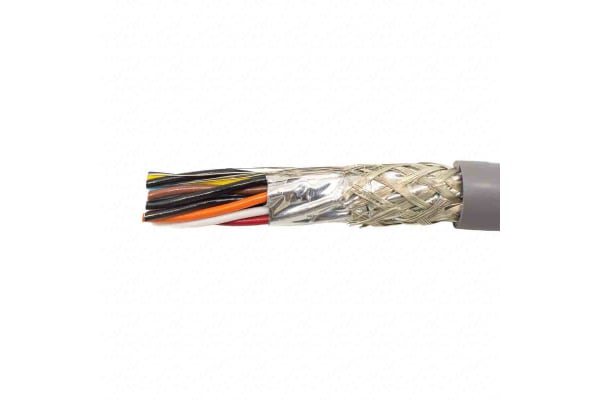 Product image for 22AWG 7/38 8 PAIR FOIL/BRD